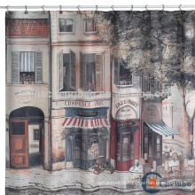 Landscape shower curtain paint booth water curtain