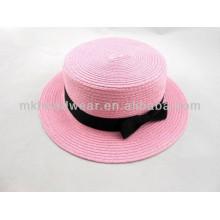 Colorido, hembra, paja, sol, playa, bóveda, sombrero, bowknot