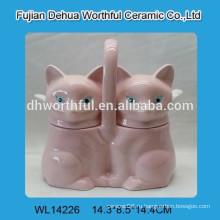 Творческий керамический горшок для приправы с формой лисы