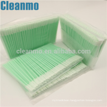 Cleanroom Swab Small Top Single Layer Polyester Swab PS758L Clean Slotted Area