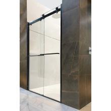 Duschraum aus schwarzem Aluminium mit Schiebetür und Glas Aluminum