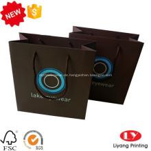Schwarz angepasste Einkaufstasche aus Papier mit Henkel