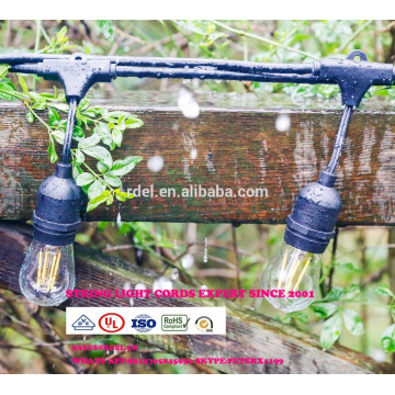 SLT-130 Europe standard solar power led light custom made 100ft waterproof string lights wiht extension cord&dimmer
