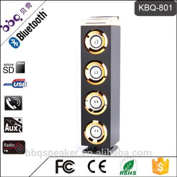 Bbq KBQ-801 4000mAh soporte más caliente del altavoz inalámbrico bluetooth de WoodTower con el banco del poder del micrófono