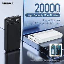 Remax Join Us 2021 Newest Design High Capacity Portable USB Power Bank 20000mAh For Mobilephone
