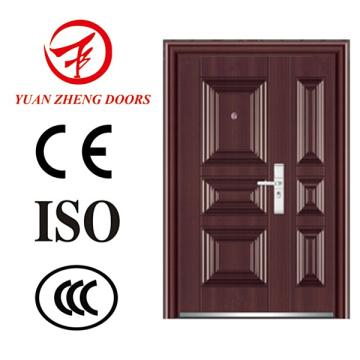 Puerta principal delantera Puerta doble de seguridad de acero