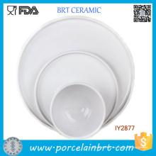Набор из 3 белого фарфора блюда и тарелки керамические