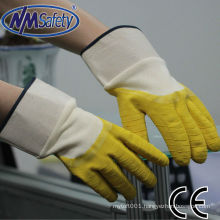 NMSAFETY jersey liner coted latex open back safety glove
