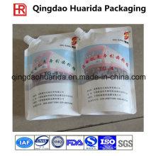 Пластичная алюминиевая фольга мешок spout для масла / воды / моющего средства / жидкого