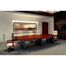 Table de conférence moderne de bureau en bois de haute qualité (HF-Ltd005)