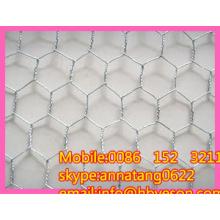 """3/4 """"electro galvanizado alambre hexagonal redes de malla de alambre de pollo"""