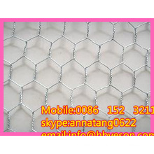 """3/4"""" electro galvanized hex wire netting chicken wire mesh cages"""