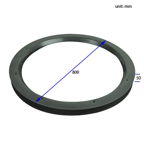 VLFR0002 Circular Vision Panels For Hospital Doors Dimension
