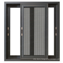 Best price aluminum window office interior sliding windows with mosquito nets