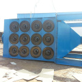 Downflow horizontal industrial filter dust collector