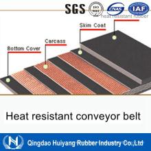 Banda transportadora del EP goma resistente a la temperatura alta de contrachapado múltiple