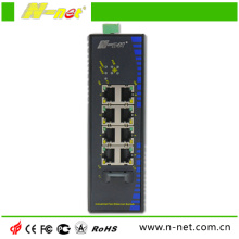 8 glasvezel-poorten POE-switch