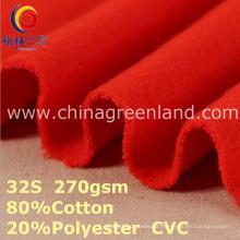 CVC-Baumwollpolyester-Maschenware für Textilsportkleidung (GLLML384)