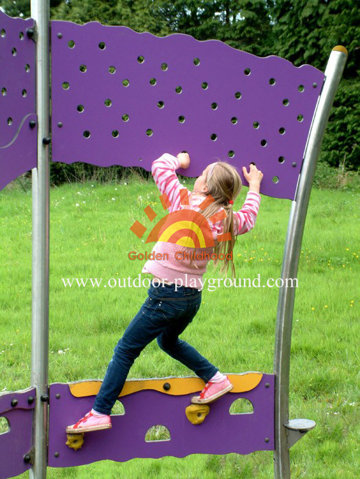 steel panel climbing walls playground structure for kids