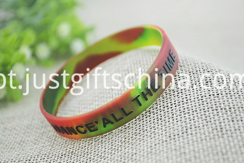 Promotional Swirl Embossed Imprint Adult Silicone Wristbands