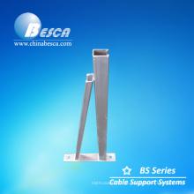 Suporte galvanizado de estilo triângulo para uso de suporte de cabo