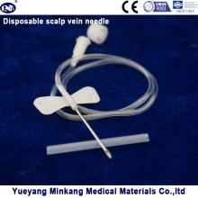 Aguja desechable de vena de cuero cabelludo 19g (ENK-TPZ-011)