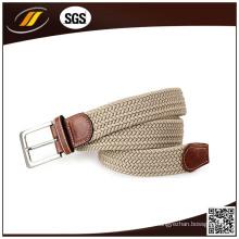 Cinturones trenzados de la tela elástica del color puro del cinturón de la cintura trenzada
