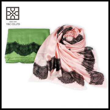 Nova cor sólida modal mistura lenço de renda