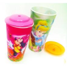 Taza plástica lenticular del regalo promocional 3D para beber