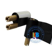 Textile code-barres lavable Ruban de transfert thermique noir pour transfert thermique d'étiquettes