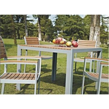 Set de comedor al aire libre muebles de madera imitado 5pc