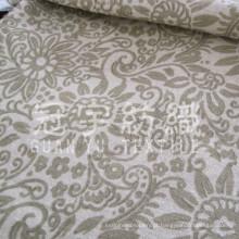 Tecido para estofamento de sofá jacquard chenille tingido de fio