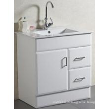 Neues Design Sanitärkeramik Bodenmontage Solide Badezimmer Eitelkeit mit Becken (AB-75)