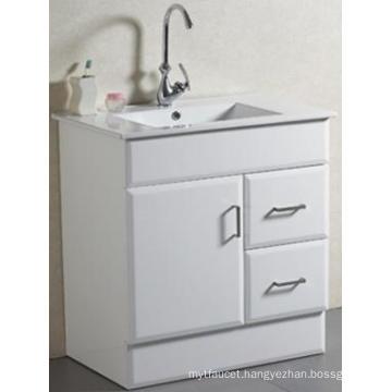 New Design Sanitary Ware Floor Mounted Solid Bathroom Vanity with Basin (AB-75)