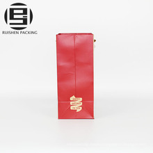 Cheap decorative red color paper shopping bags