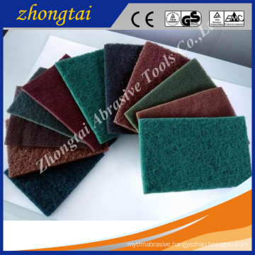 Aluminum oxide/Silicon carbide material Scouring pad for kitchen cleaning use
