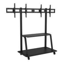 Dual TV stand mobile cart for display up to 55 inch
