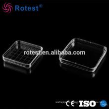 Lab 100mm Polystyrene Square Petri Dish sterile