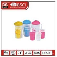 Popular plastic water kettle 1.6L w/4 cups