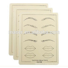 Maquillage permanent Lèvres Brow Practice Skin LIP Bouche sourcils EYE Tattoo, Permanent Eyebrow Lip Makeup Cosmetic Tattoo Practice Skin
