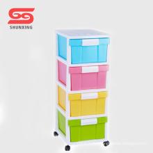 Family multipurpose wardrobe plastic cabinets with wheel