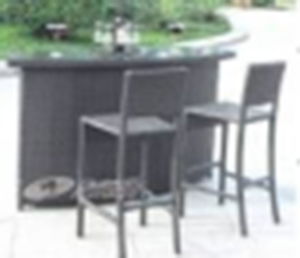 Wicker bar table set