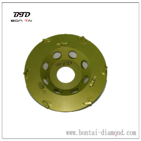 Mini PCD Concrete Scrapping Epoxy Grinding Cup Wheel