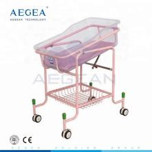 AG-CB010 bandeja más avanzada de ABS con colchón cama de cunas de bebé hospital ajustable para la venta