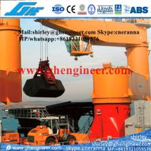 Электрический плавучий наливной грузовой кран в защищенной воде