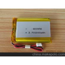 Bateria Recarregável 603450 Bateria Li-Polímero 3.7V 1200mAh