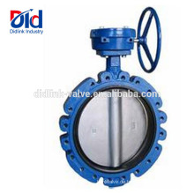 Standard Api 609 Split Zentrisch Pneumatische Steuerung Gusseisen Vollbohrungsventil 10 Zoll