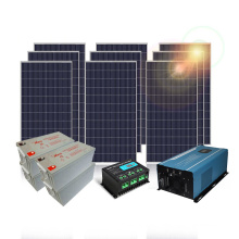 Off grid 2KW photovoltaic solar system with grid power switch