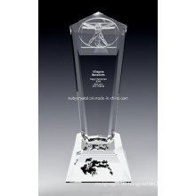 10-Zoll-große D-Vinci-Kristall-Trophäe (DV1N)