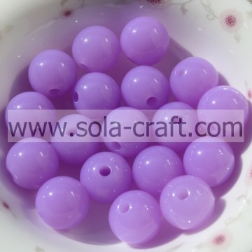 Cheapest High Quality Acrylic 6MM Light Purple Color Ball Smooth Cute Beads For DIY Craft